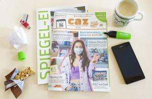 Campus-Zeitung CAZ Mai-Heft 2020 mit Spiegel-Ei